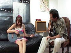 Music, Young school, Horny young teen, Teen spanking, School young, Young teen swallow