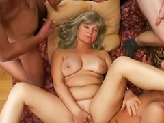 Mature gangbang, Angela, Gangbang mature, Lesson, Mature lessons, Mature lesson