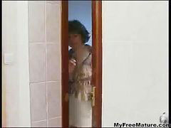Mom, Boy, Granny, Mature, Grannies, Shower