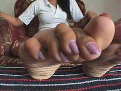 Toes, Long nails, Long toes, Long nail, Spreading wide, Spread wide