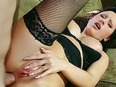 Swallowed hard, Hard stockings anal, Nikky black, Nikki anal, Nail stocking, Boots swallow