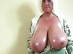 Oily, Naughty girls solo, Huge tits solo, Oily tits, Huge oily, Huge tit blonde