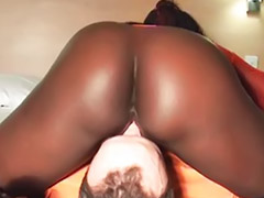 Femdom big ass, Femdom blowjob, Lady man, Ebony ass licking, Man with vagina, Vagina man