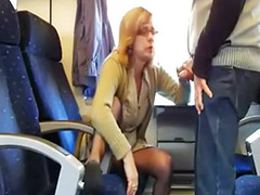 Mature wife, Public sex train, Public train, Wife stockings, Wife public, Wife training