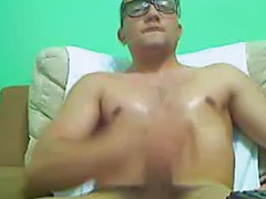 Amateur glasses, Unload, Solo guy jerking, Jerks and cum, Jerking and cumming, Guys jerking