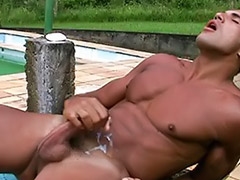 Fitness, Young man, The man, Man wanking, Young latin, Young outdoor