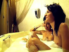 Taking shower, Taking a bath, Takes a shower, Shower bath, Lesbians bathing, Jane amateur