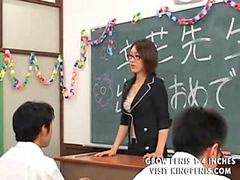 Teacher, Japanese, Students, Student, X-art, Lactating