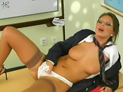 High school girl masturbation, Classroom, Girls rubbing pussy, Teacher solo, School girl teacher, High  school