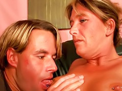 Car, Mature, German mature, German handjob