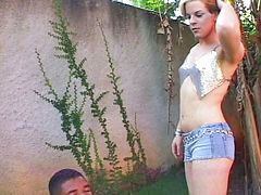 Little, Sex trans, Little shemale, Latin shemale outdoors, Outdoor latin, Interracial shemale