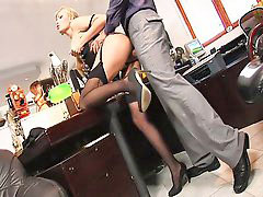 Secretary, Stocking office, Slut stockings, Secretary stocking, Secretary blonde, Office slut