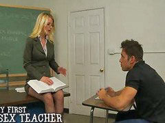 Teacher, Student, Students, Anita blond, Teacher student, Rimming tits