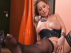 Alison, Alison star, Stockings big tits solo, Solo big tits stockings, Busty stocking solo, Big tits stocking solo