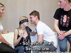 Blindfolded, Orgy bj, Blindfolded bj, Foursome orgy, Blindfold orgy, Blindfoldded
