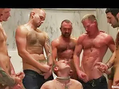 Bound gay, Many loads, Loadful of cum, Load of cum, Group bound, Gays load