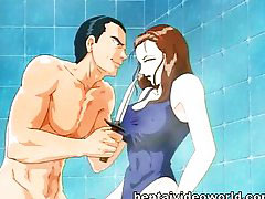 Cartoon, Anime, Shower