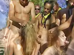 Audrey, Rimming redhead, Holland, Double outdoor, Audrey hollander, Group bukkake