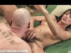 Shemale domination, Shemale handjob, Shemale gets handjob, Handjob shemale, Handjob domination, Tit sucking handjob