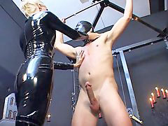 Torture, Latex catsuit, Catsuit, Tortured, Poor slave, Slave torture