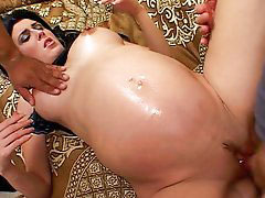 Interracial, Black, Pregnant, Mom, Threesome, Piercing