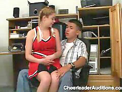 Teen cheerleader, Teen office, Office teen, Blonde cheerleade, Apply, Cheerleader blowjob