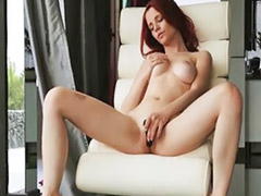 New toy, Redhead dildo, Redhead dildos, New dildos, New dildo, Girl new toy