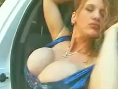 Amateur huge tits, Redhead with big tits, Huge tits solo, Redhead public, Huge breasts, Redhead car