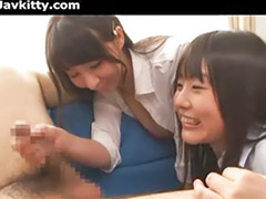 Two japanese, Two ladies, Lady asian, Hot lady, Cfnm asian, Two asian