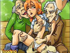 Old men, Gang bang outdoor, Young gang, Outdoor old young, Old outdoor, Old men,