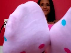 Watching me masturbating, Watch me masturbate, Pov sock, Sock pov, Sock foot, Cute stocking