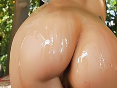 Ashli orion, Oiled ass, Ashly, Ashe, Toed up, Outdoor oiled