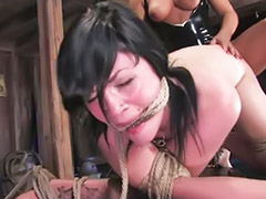 Daughter, Tied up, Daughters, Tied lesbian, Lesbian tied up, Lesbians anal strap on
