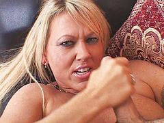 Handjobs facial, Horny blonde milf, Your, Stroking, Milf handjob, Milf facial
