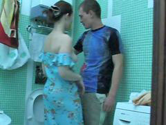Bros, Girl seduced own bro in bathroom, Bro, Seducing girl, Seduced girl, Seduce girl