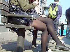 Swedish, Nylon girl, In nylone, Swedish girl, In nylon, Tram
