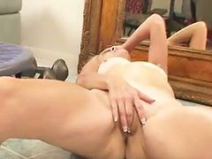 Hard body, Fingering herself, Working out, Work out, Hard orgasm, Hard fingering