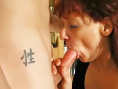 Mature, Mature handjob, Young, German handjob, German mature, German