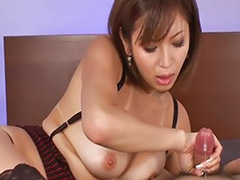 Handjobs with cum, Japanese bedding, Japanese handjob, Tanned, Tanned japanese, Japanese playing