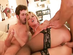 Kayla, Milf double vaginal, Milf cum swallow, Milf swallowing, Fuck of life, Big ass double fucked milf