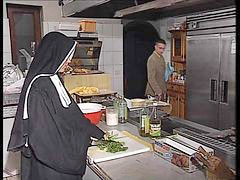 Kitchen, German, Nuns, Fuck