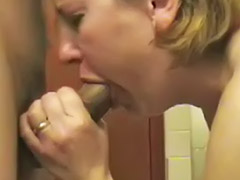 Bathroom mature, Wife bathroom, Gagging mature, Wife gives, Mature gag, Mature blonde wife