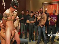 Roped, Ropes, Sex with hand, Hand sex, Group man sex, Gay with hand