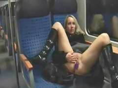 Public sex train, Sex on train, Train masturbate, Public train, Blonde on train, Public fun