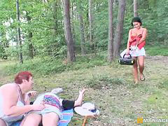 Teen in old, Old m an, Joins in, Joining in, Join couple, Couple joined