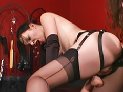 Dungeon, Lesbian dungeon, Strap on lingerie, Lesbian dungeon