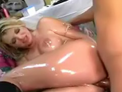 Vicki, Big oiled tits, Vicky, Shiny, Anal oil, Vick