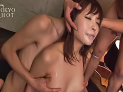 Gang bang, Gang, Messy, Messy japanese, Cream pie compilation, Gang bangs