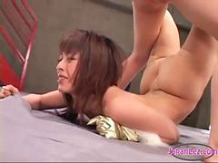 Asian, Wrestling, Hairy, Girl