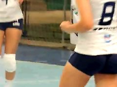 Volleyball tights, With voyeur, Short tight, Amateur close up, Close up amateur, Tight up